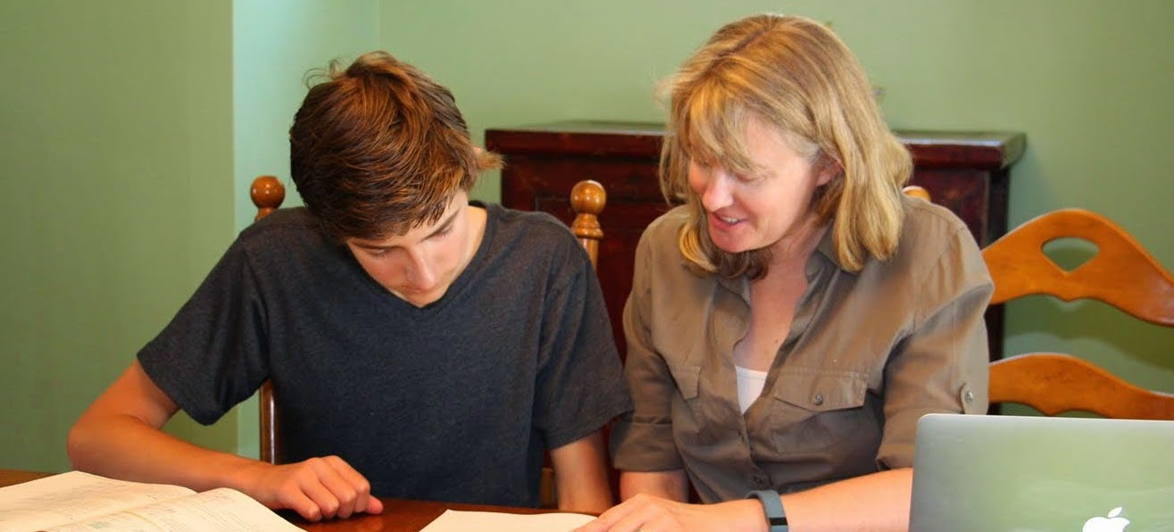 Photo: Kate Hauser consulting with a student